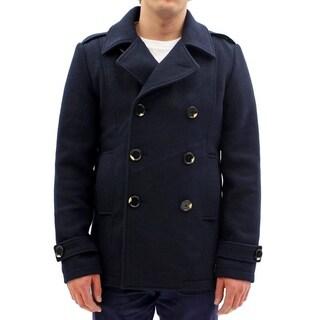 Seduka Men's Jacket - Contemporary, Casual, Sportswear Peacoat