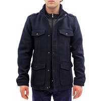 Seduka Men's Jacket - Contemporary, Casual, Sportswear Military Style Peacoat