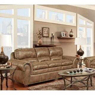 SofaTrendz Bianca Almond Nailhead Trim Sofa