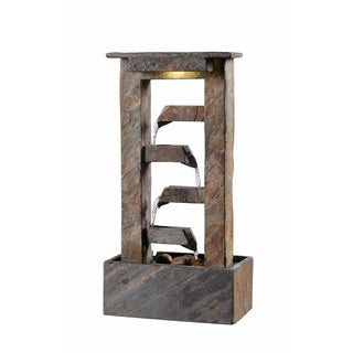 "Creek 19"" Indoor Table Fountain - Slate"