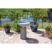 "Laila 22"" Outdoor Bird Bath - Concrete"