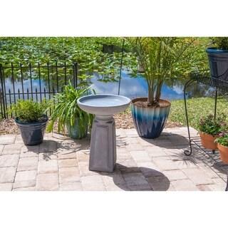 "Design Craft Laila 22"" Outdoor Bird Bath - Concrete"