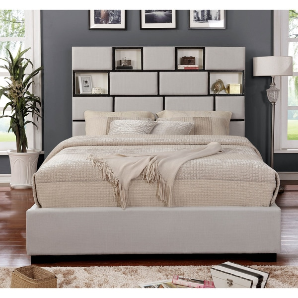 Furniture Of America Corona Contemporary Platform Bed With LED Lights U0026amp;  USB Outlets
