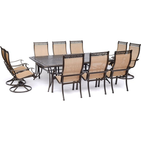 Shop Hanover Manor 11 Piece Dining Set With 6 Sling Chairs