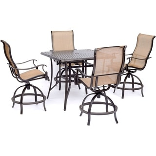 Hanover Manor 5-Piece High-Dining Set with 42 In. Cast-top Dining Table