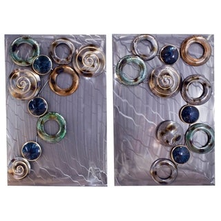 Hollow Circles on Brushed- Set of 2