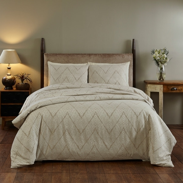 Sarah King Duvet Cover - Natural