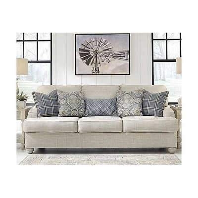 signature design by ashley, traemore casual linen sofa QI0T69NX