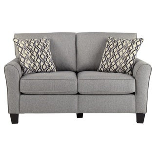 Signature Design by Ashley, Strehela Contemporary Silver Loveseat