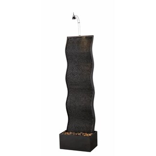 "Design Craft Swell 56"" Indoor Floor Fountain - Black"