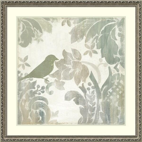 d12106eb1fb Shop Framed Art Print  Damask Bird I  by Asia Jensen 32 x 32-inch ...