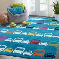 Nourison Miles Cars Kids Area Rug