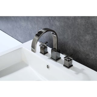 Legion Furniture 8 in. Widespread 2-Handle Bathroom Faucet in Glossy Black