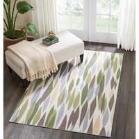 Waverly Sun & Shade Green Blossom Indoor/Outdoor Rug - 4'3 x6'3