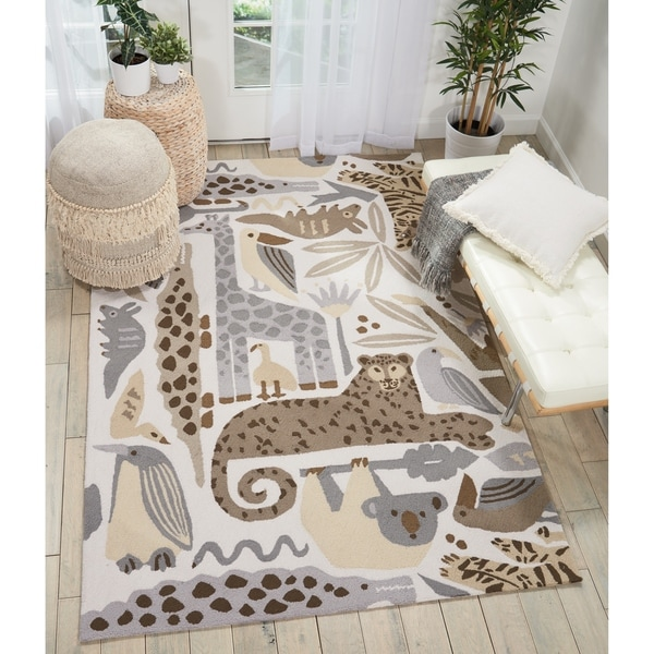 Shop Nourison Hand Hooked Zoo Animals Kids Area Rug