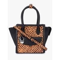 Handmade Phive Rivers Women's Black Leather Handbag (Italy) - One size