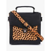 Handmade Phive Rivers Women's Black Leather Sling Bag (Italy) - One size