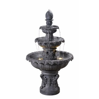 """Antoni 45"""" Outdoor 3-Tier Floor Fountain - Zinc"""