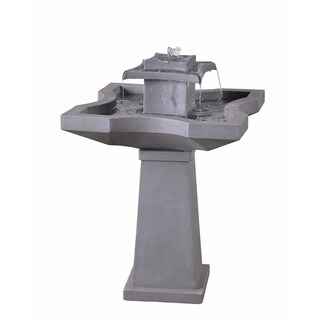 "Lutz 32"" 2-Tier Outdoor Floor Fountain - Concrete"