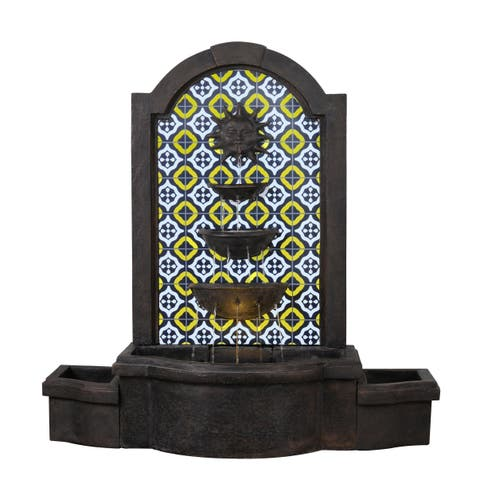 "Alcazar 45"" Indoor/ Outdoor Waterfall Floor Fountain - Bronze"