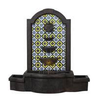 """Alcazar 45"""" Indoor/ Outdoor Waterfall Floor Fountain - Bronze"""