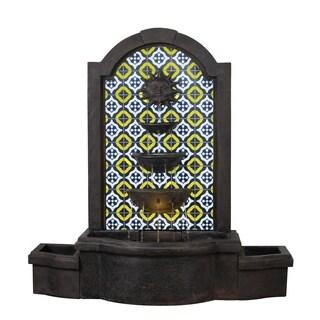 """Design Craft Alcazar 45"""" Indoor/ Outdoor Floor Fountain - Bronze"""