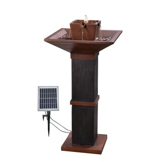 "Kobe 40"" Outdoor Solar Fountain - Copper and Bronze"