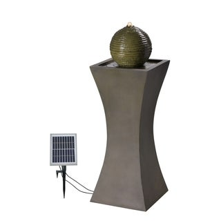 "Ibis 40"" Outdoor Solar Fountain - Moss Stone"