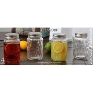 Treasure - 17oz Clear Glass Jar Set with Lid