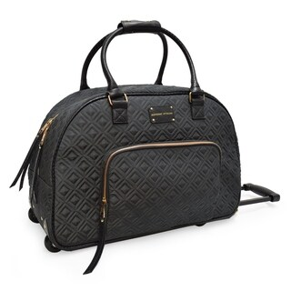 Adrienne Vittadini 22 Inch Quilted Rolling Duffel-Charcoal
