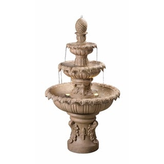 """Antoni 45"""" Outdoor 3-Tier Floor Fountain - Sandstone"""