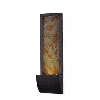 "Design Craft Sahara 37"" Indoor/ Outdoor Wall Fountain - Black and Slate"
