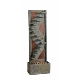"""Voyage 47"""" Indoor/ Outdoor Floor Fountain - Slate and Copper"""
