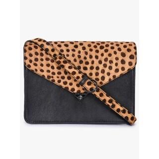 Handmade Phive Rivers Women's Black Leather Sling Bag (Italy)