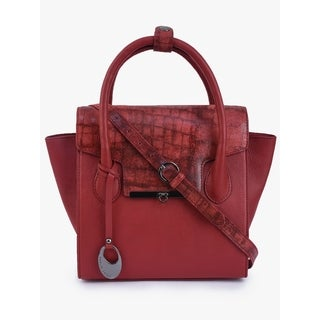 Handmade Phive Rivers Women's Red Leather Handbag (Italy) - One size