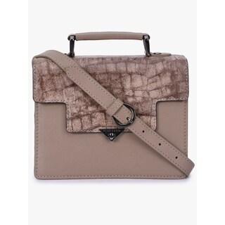 Handmade Phive Rivers Women's Grey Leather Sling Bag (Italy)