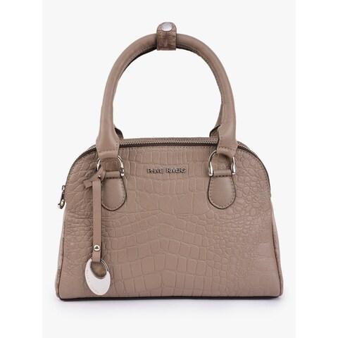 Handmade Phive Rivers Women's Grey Leather Handbag (Italy)