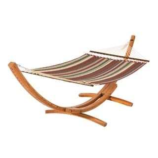 Classic Accessories Montlake Fadesafe Quilted Hammock with Wood Stand