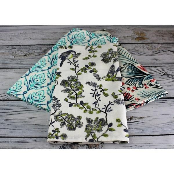 Fiber Reactive Print Tea Towel by Peach & Oak
