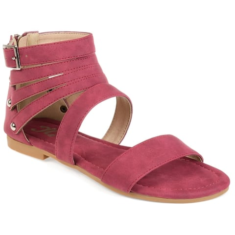 Journee Collection Womens Esence Caged Multi-strap Flats