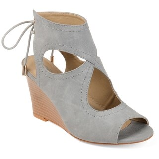 Journee Collection Women's 'Camia' Center-cut Open-Toe Wedges