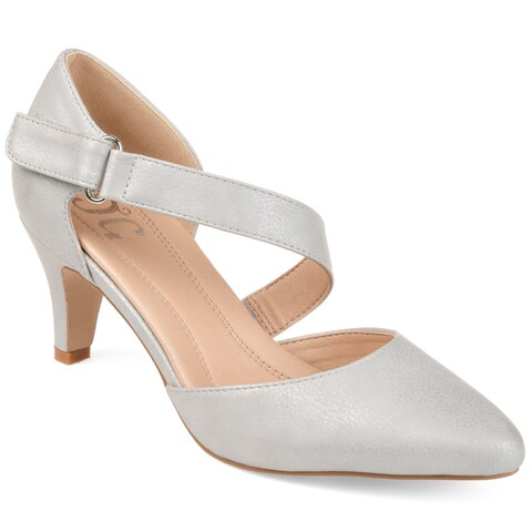 Journee Collection Women's 'Tillis' Comfort-sole Cross-strap D'orsay Pumps