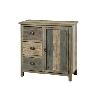 Sanibel 3-drawer and door Blue/ Grey Cabinet