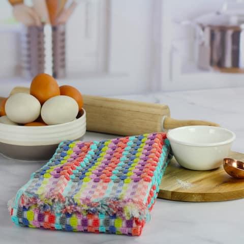 Sculpted Honeycomb Pattern Kitchen Towel by Peach & Oak