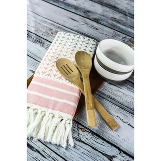 Sculpted Honeycomb Pattern Kitchen Towel by Peach & Oak