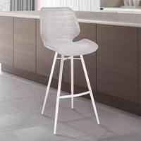 Armen Living Valor Barstool in Light Vintage Grey