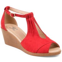 Journee Collection Women's 'Kedzie' Comfort-sole Center-cut Wedges