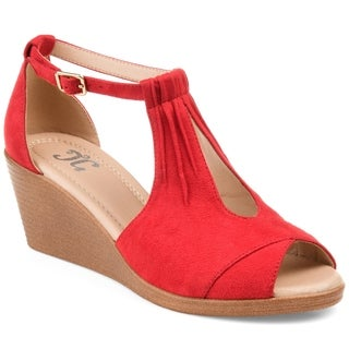 Journee Collection Women's 'Kedzie' Comfort-sole Center-cut Wedges (More options available)