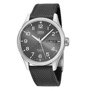 Oris Men's 01 752 7698 4063-07 5 22 17FC 'Big Crown Pro Pilot' Grey Dial Grey Fabric Strap Day Date Swiss Automatic Watch