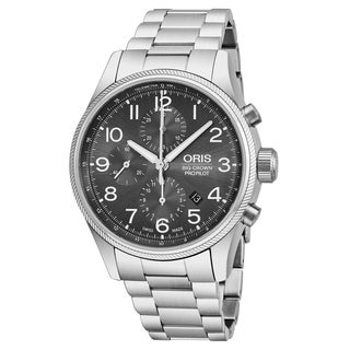 Oris Men's 01 774 7699 4063-07 8 22 19 'Big Crown Pro Pilot' Grey Dial Stainless Steel Chronograph Swiss Automatic Watch